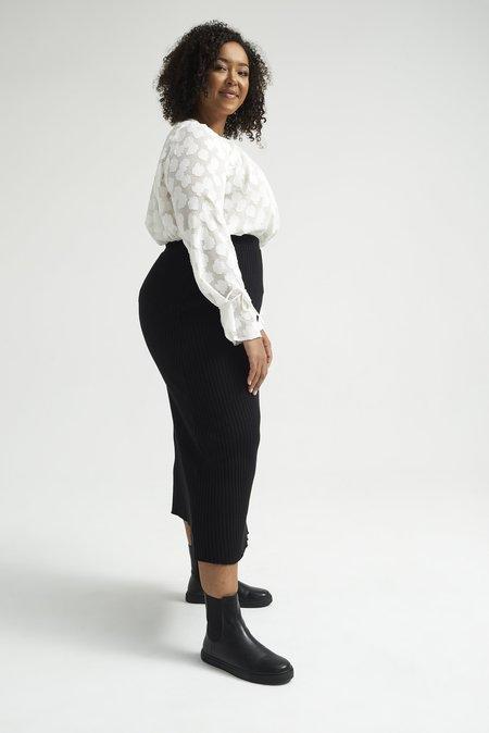 Lois Hazel Pillar Skirt - Black