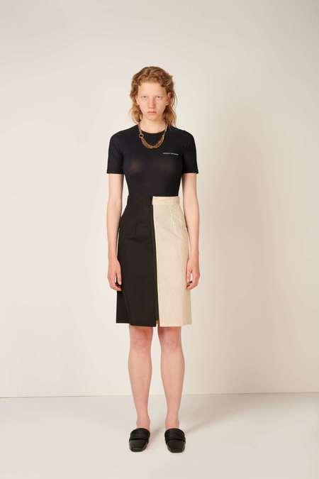 MM6 Maison Margiela Two-tone skirt - Black/Beige