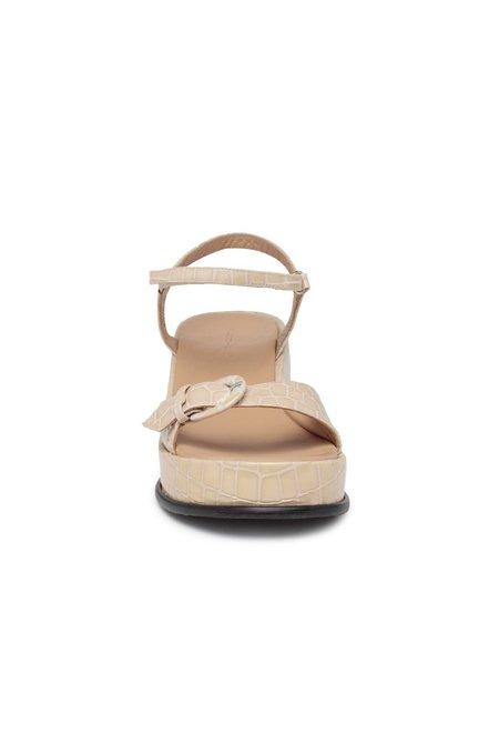 Paloma Wool Forbes Buckle Platform Sandal - Ecru