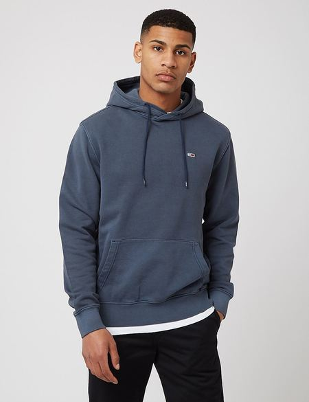 Tommy Hilfiger Washed Basketball Hoodie - Twilight Navy Blue