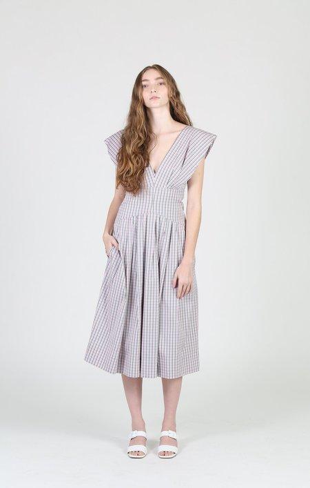 Philosophy di Lorenzo Serafini Jean Micro Check Dress - Light Green