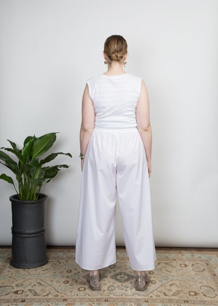 SBJ Austin Elise Poplin Pant - White