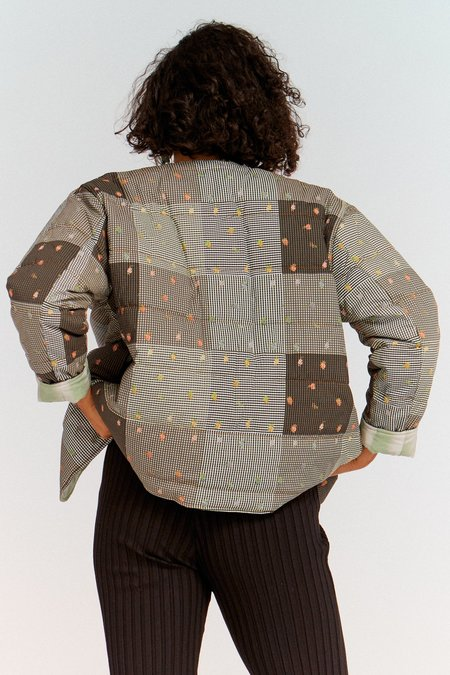 No.6 Glenn Quilted Jacket - Gingham Patchwork