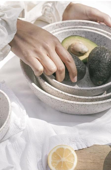 Earthen Nesting Serving Bowls - Pebble