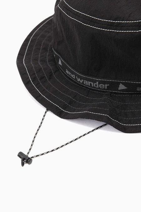 and wander JQ Tape Hat - Black
