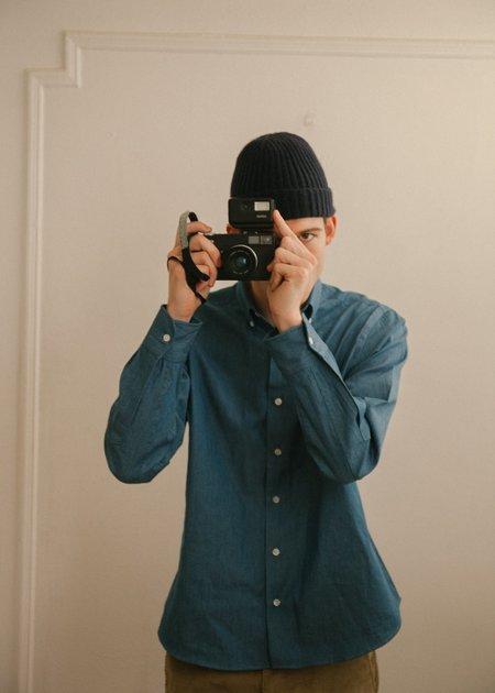 Steven Alan Single Needle Shirt - Soft Denim
