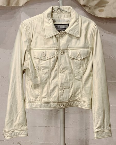 Vintage Pearlescent Leather Jacket