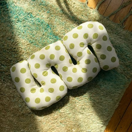 Rose Greenberg Reversible Squiggle Pillow - Green Grapes