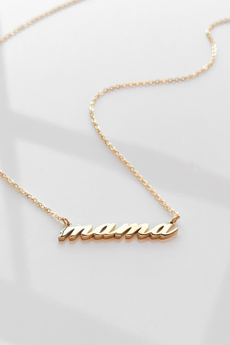 Thatch Mama Script Necklace - Gold