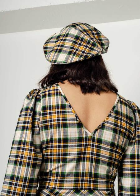 Penny Sage Sissi Beret - Plaid Flannel