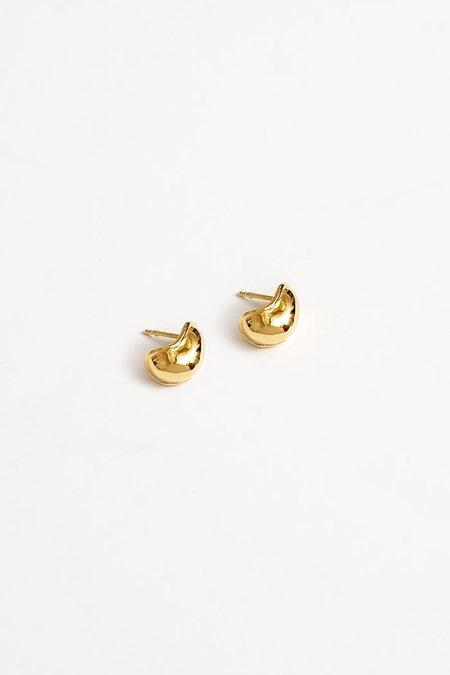 Wolf Circus Small Amoeba Earrings - Gold