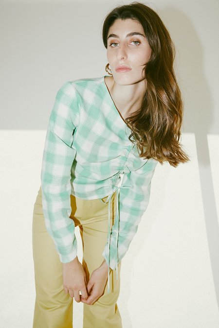 Muse the Label Rosie Shirt - Mint Check
