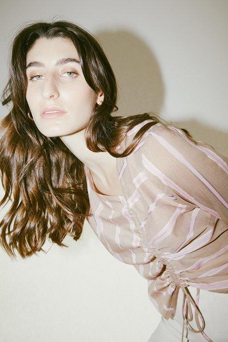 Muse the Label Rosie Shirt - Pastel Stripe