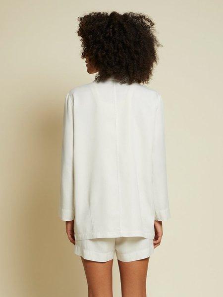 Nation Ltd Jessie Draped Blazer - Dirty White