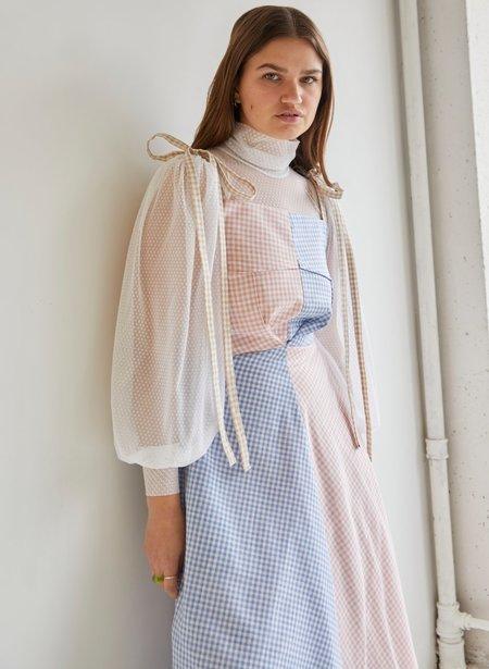 Eliza Faulkner Swiss Dot Mesh Dolly Top - White