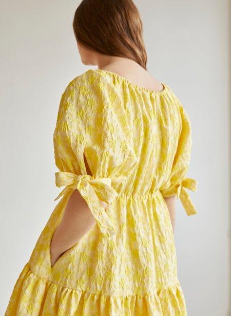 Eliza Faulkner Jacquard Grace Dress - Yellow