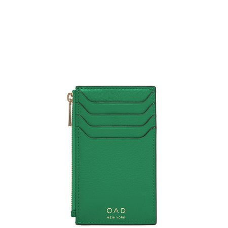 OAD Billy Zip Card Case - Kelly Green