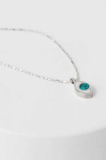 PIA Third Eye Necklace - Silver/Turquoise