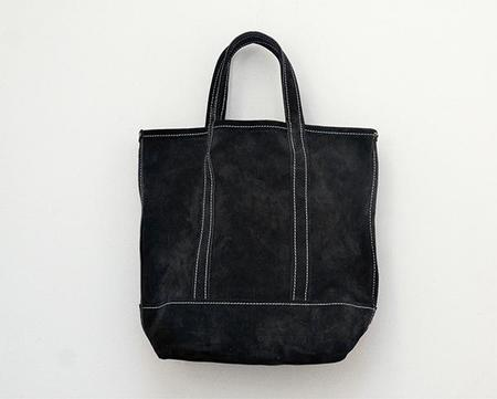 Stanley & Sons Mini Suede Tote - Black