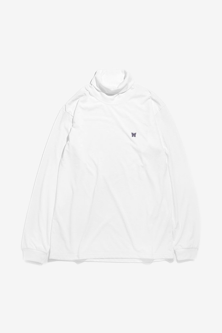 Needles Turtle Neck Tee - white