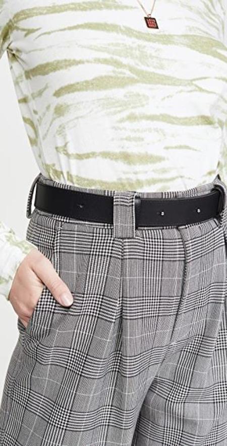 Ganni Slim Leather Belt - Black