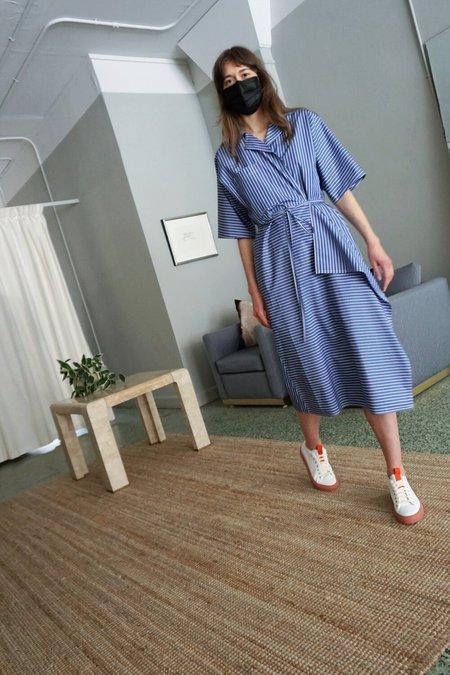 SOFIE D'HOORE DINA DRESS - blue stripe