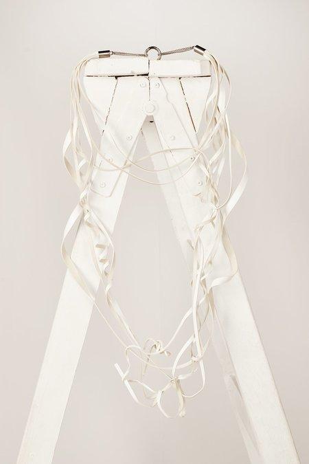 MM6 Maison Margiela Curly necklace - White