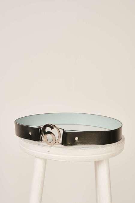 MM6 Maison Margiela Logo plaque belt - Black