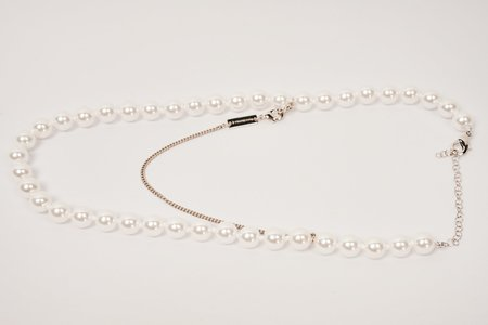 MM6 Maison Margiela Faux-pearl Necklace - White/Silver