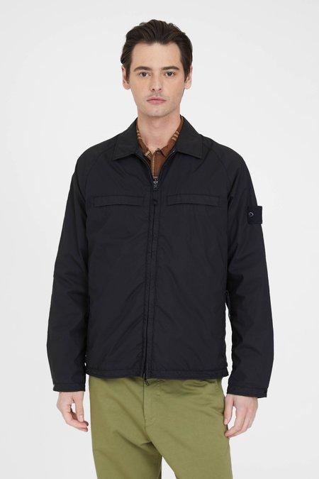 Stone Island 119F4 GHOST PIECE Stretch Cotton Tela Paracadute Jacket - Black