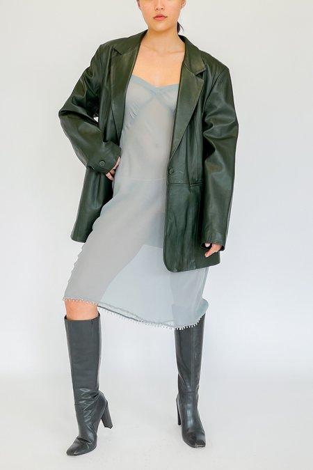 Vintage Leather Blazer - Forest