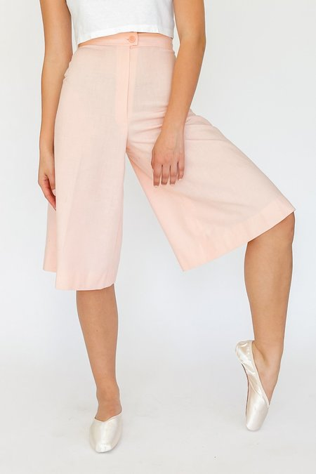 Vintage High Rise Culottes - Shell Pink