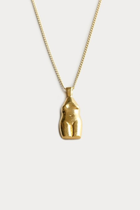 Wolf Circus Woman Vase Necklace