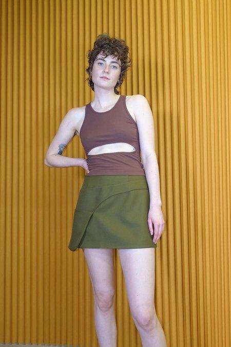 Sandy Liang Side Skirt - Olive