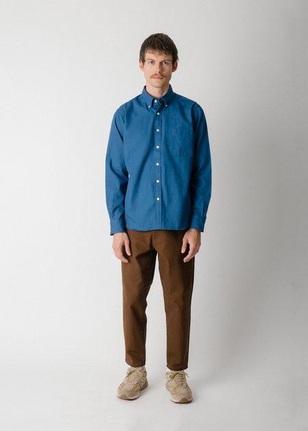 Steven Alan Collegiate Shirt - Deep Blue Oxford