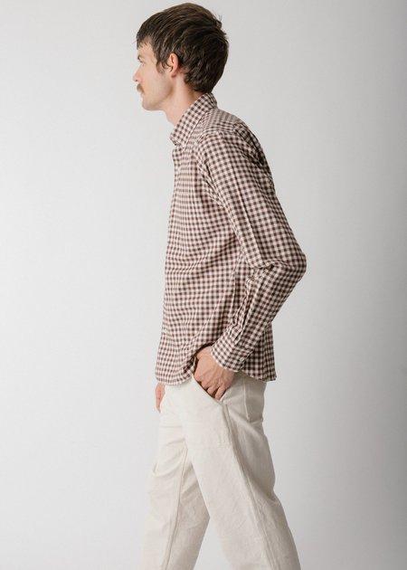 Steven Alan Single Needle Shirt - Hickory Gingham