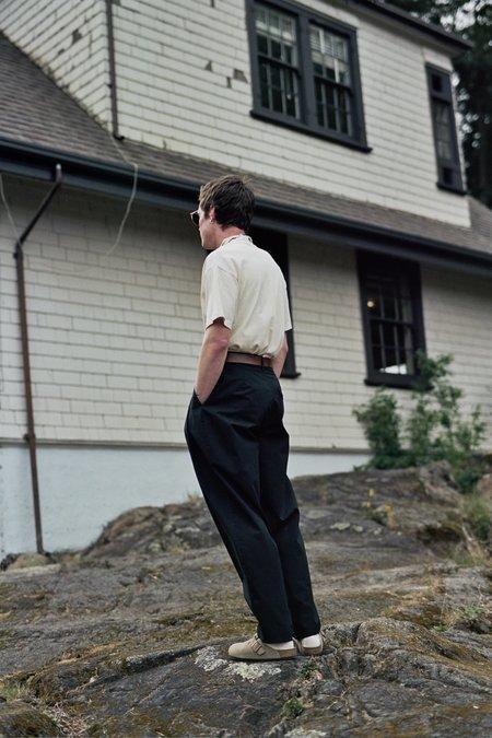 Camiel Fortgens Pleated Suit Pants - Black Cotton