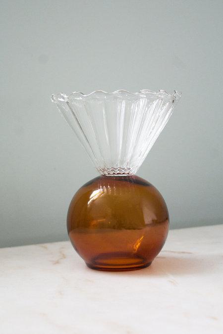 Natalia Criado Crystal Cup vase - Ambar