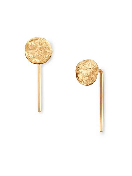 Fail Jewelry Disc Hook - 14k Yellow Gold