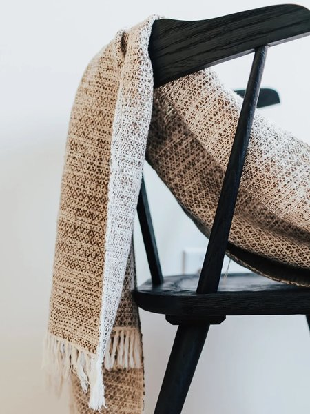 Collective Humanity Handwoven Throw - Walnut