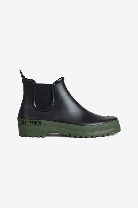 Stutterheim Chelsea Rainwalker boots - Black/Green