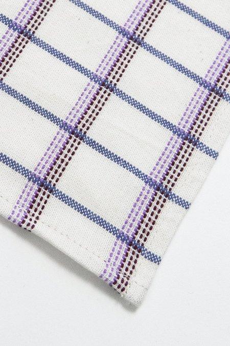 Archive New York San Lucas Plaid Napkin - White