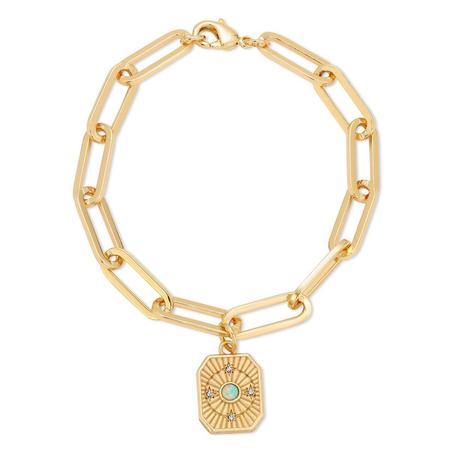 Joy Dravecky In Orbit Bracelet - 14K Gold Plated over Brass/Opal