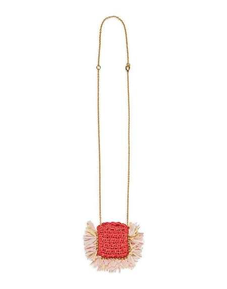 La Double J Mini Purse Necklace - Rose