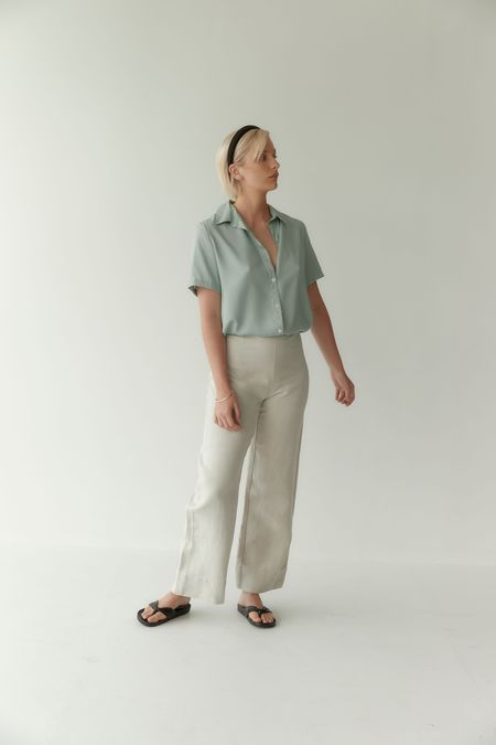 Mina Day Shirt - Seafoam