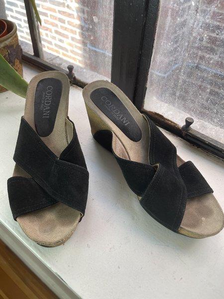 Pre-loved Cordani Black Wedge Sandal - BLACK/tan