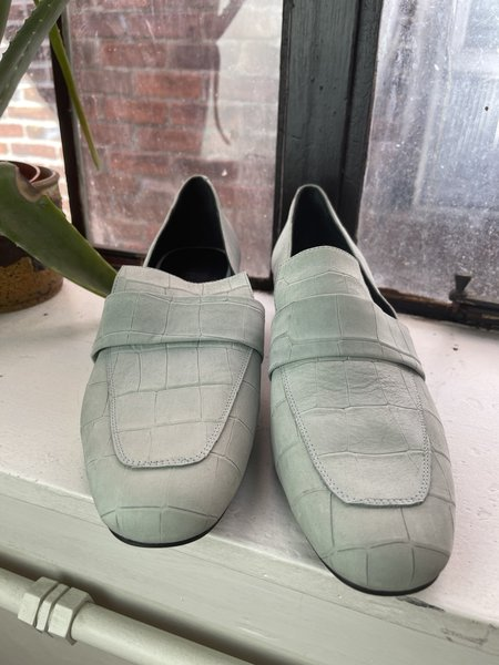 Pre-loved Maggy Moran Freda Salvadore Blue Loafers - baby blue