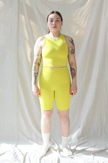 Girlfriend Collective Bike Short - Chartreuse