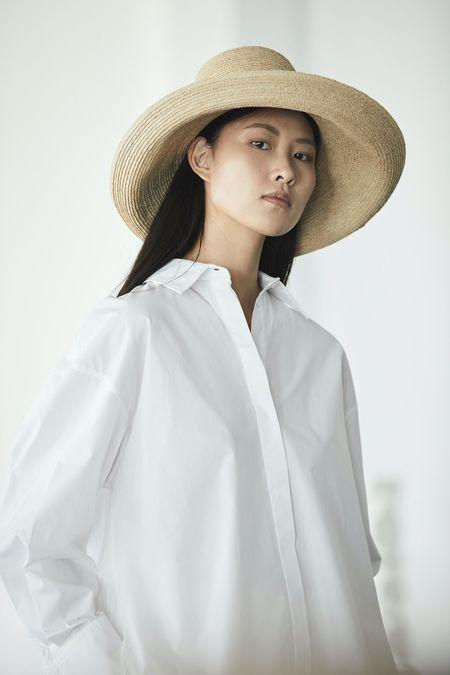 Janessa Leone Janine Bucket Hat - Natural