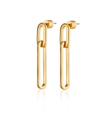 Jenny Bird Stevie Drop Earrings - 14K gold-dipped brass